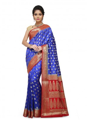 Weaving Black Designer Traditional Saree