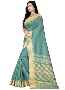 Weaving Blue Silk Traditional Designer Saree