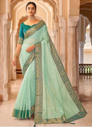 Green Weaving Casual Saree