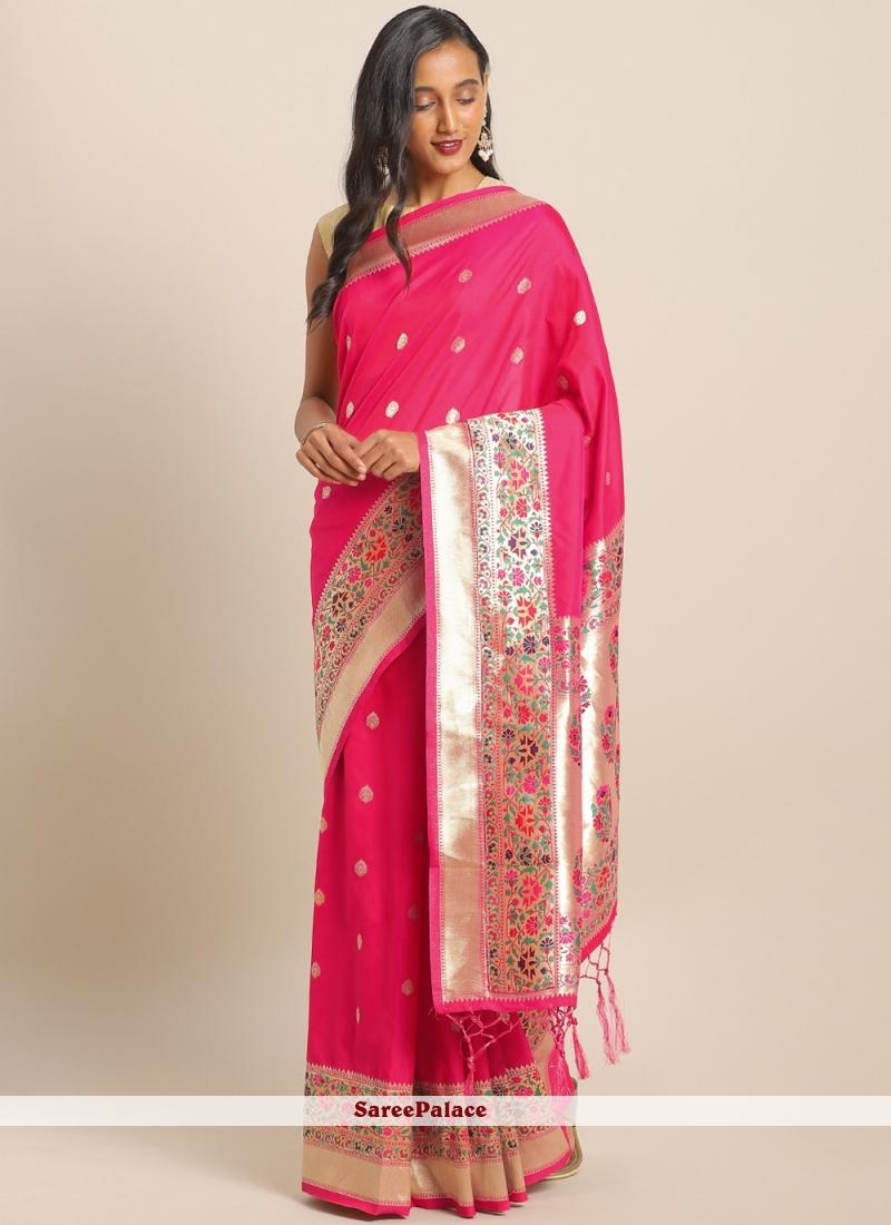 Maroon Weaving Ceremonial Saree
