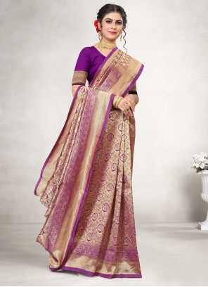 Purple Weaving Festival Classic Saree
