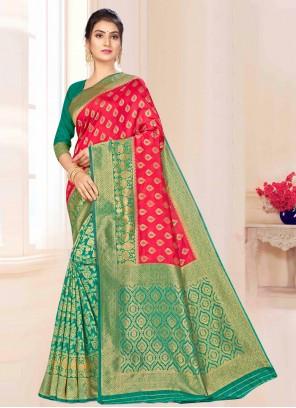 Weaving Green Contemporary Saree