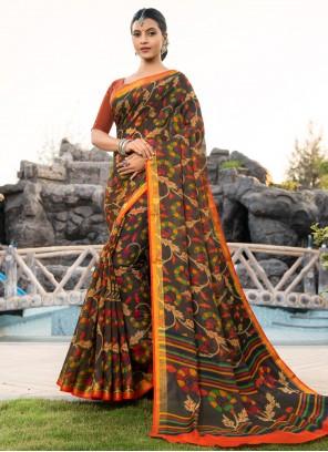 Weaving Cotton Silk Multi Colour Bollywood Saree