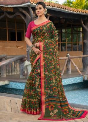 Weaving Cotton Silk Multi Colour Classic Saree