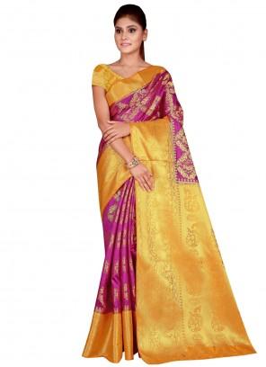Magenta Weaving Designer Traditional Saree