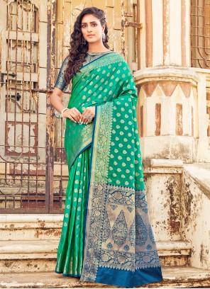 Sea Green Weaving Designer Traditional Saree