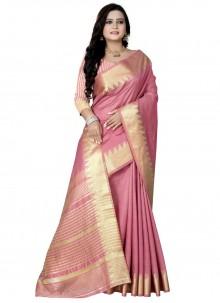 Pink Weaving Work Art Silk Designer Traditional Saree