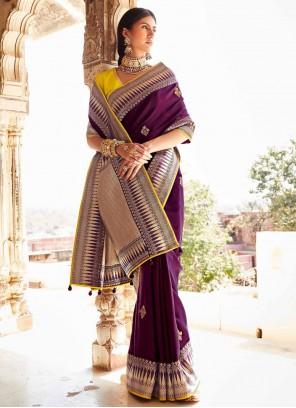 Weaving Engagement Traditional Designer Saree