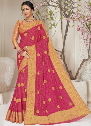 Pink Weaving Festival Classic Saree