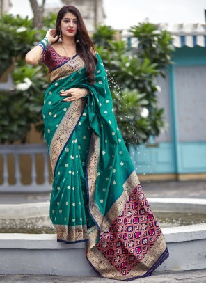 Weaving Green Festival Contemporary Saree