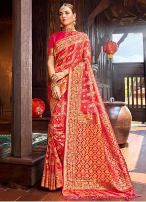 Weaving Festival Red Designer Saree
