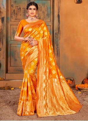 Banarasi Silk Weaving Gold Classic Saree