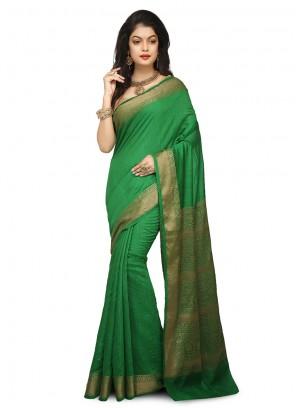 Weaving Green Designer Traditional Saree