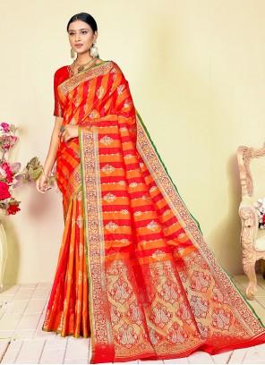 Weaving Handloom silk Traditional Designer Saree