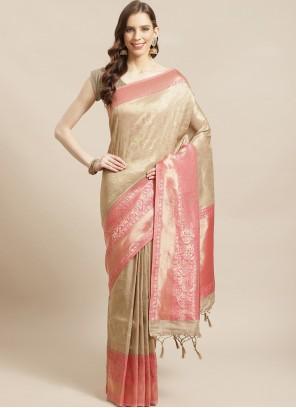 Weaving Mehndi Traditional Designer Saree