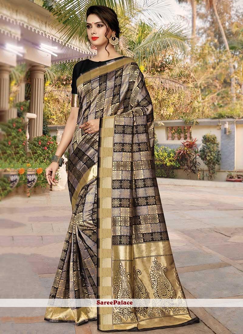 Weaving Mehndi Trendy Saree