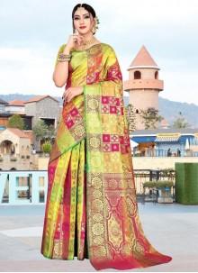 Weaving Multi Colour Art Silk Designer Saree
