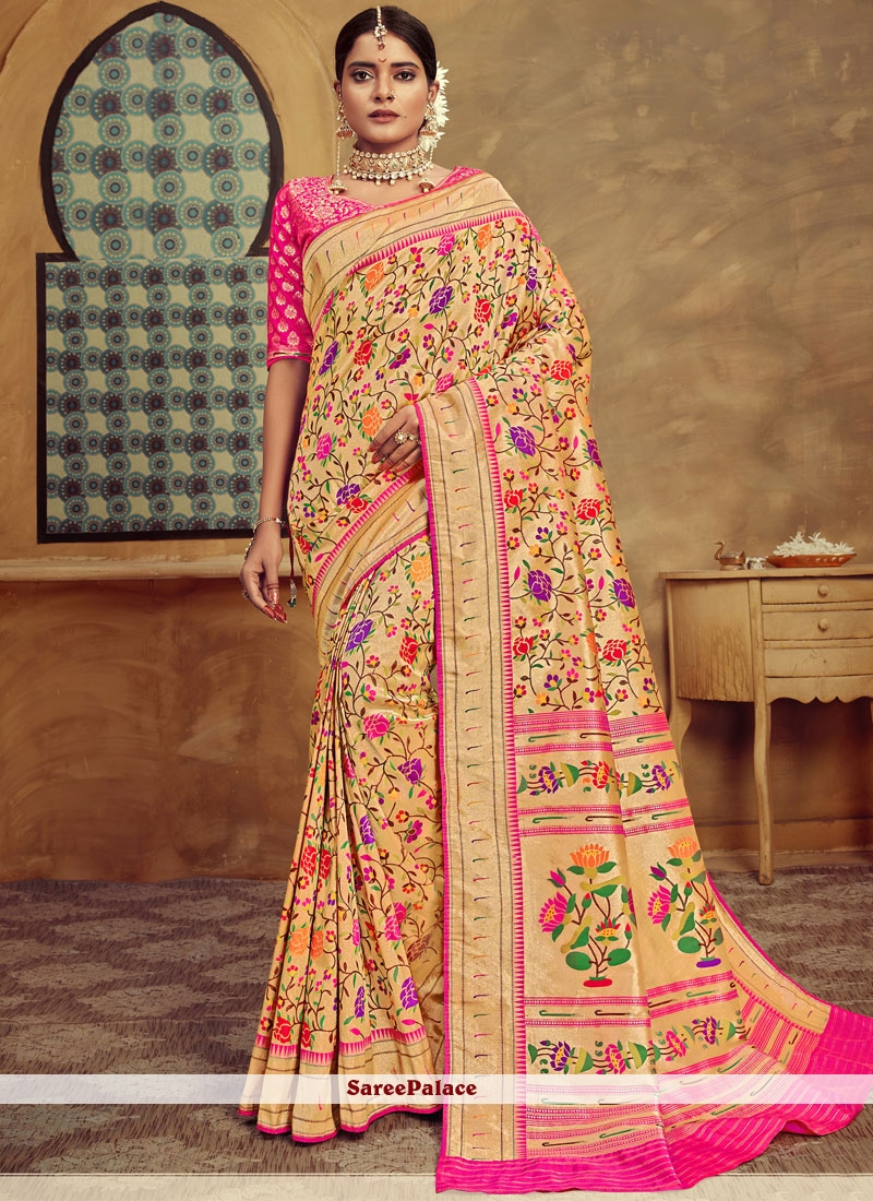 Weaving Multi Colour Banarasi Silk Designer Traditional Saree