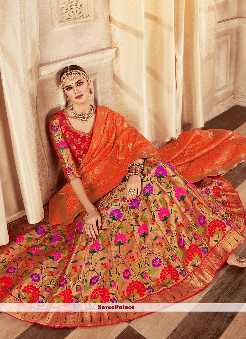 Weaving Multi Colour Banarasi Silk Lehenga Choli