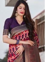 Weaving Multi Colour Designer Saree