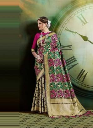 Weaving Multi Colour Traditional Saree