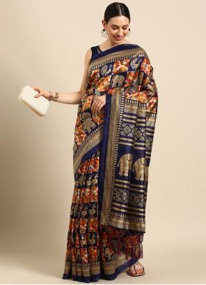 Weaving Multi Colour Trendy Saree