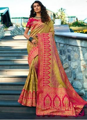 Weaving Party Multi Colour Contemporary Saree