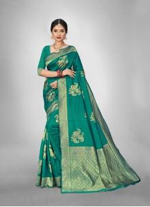 Weaving Rama Art Silk Reception Saree