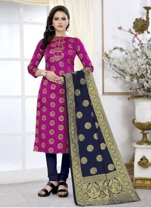 Weaving Rani Churidar Suit