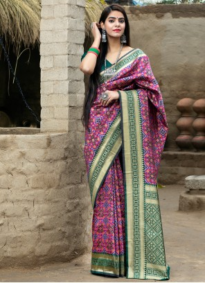 Weaving Rani Traditional Designer Saree