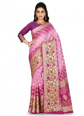 Multi Colour Weaving Reception Traditional Saree