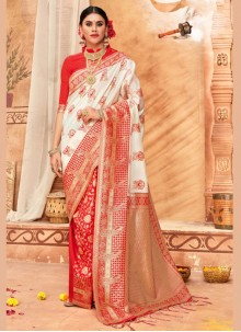 Weaving Silk Classic Saree in Multi Colour