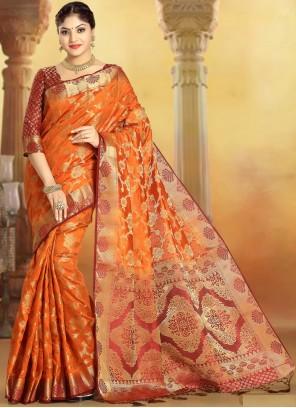 Weaving Silk Multi Colour Designer Saree