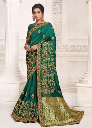 Rama Weaving Silk Designer Saree