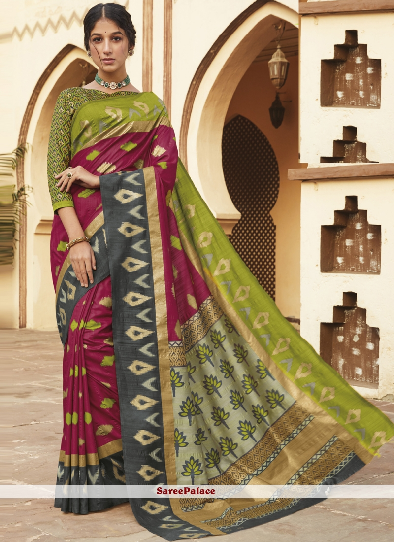 Weaving Silk Designer Multi Colour Traditional Saree