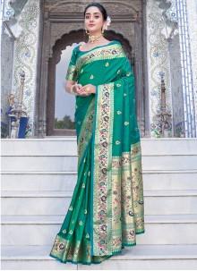 Green Weaving Silk Saree