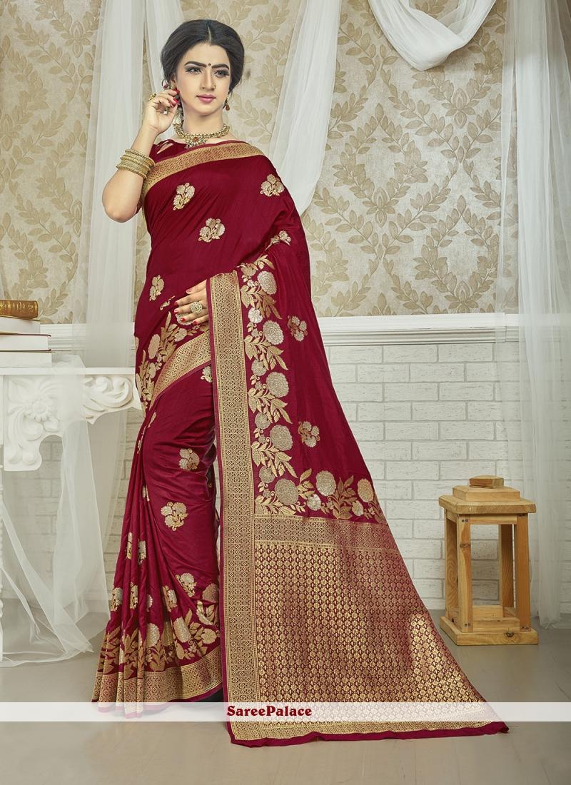 Red Weaving Silk Saree