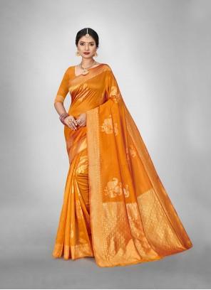 Gold Weaving Silk Festival Saree