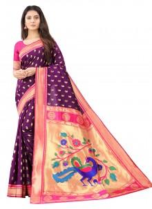 Weaving Silk Traditional Designer Saree