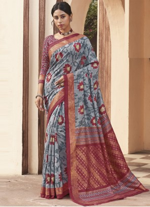 Weaving Traditional Multi Colour Designer Saree