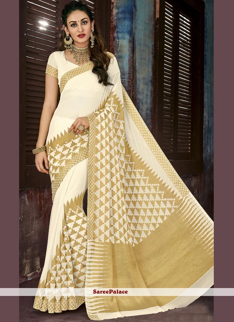 83e659d7a4bf4 Buy Weaving White Saree Online