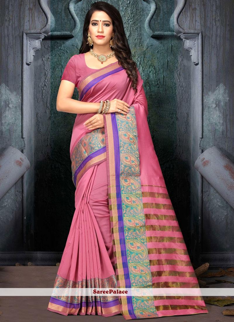 Weaving Work Cotton Silk Designer Traditional Saree