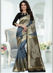 Weaving Work Traditional Designer Saree
