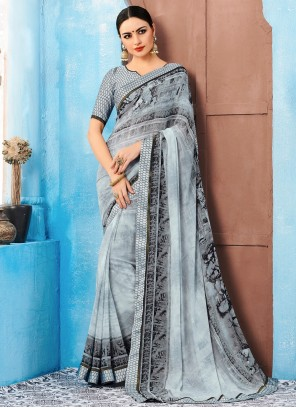 Weight Less Multi Colour Casual Saree