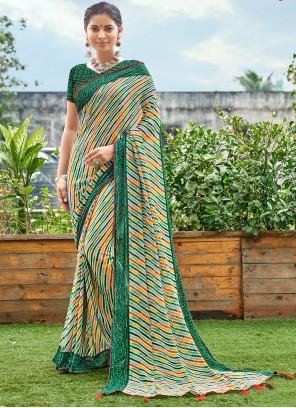Green Weight Less Casual Saree