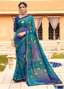 Weight Less Festival Printed Saree