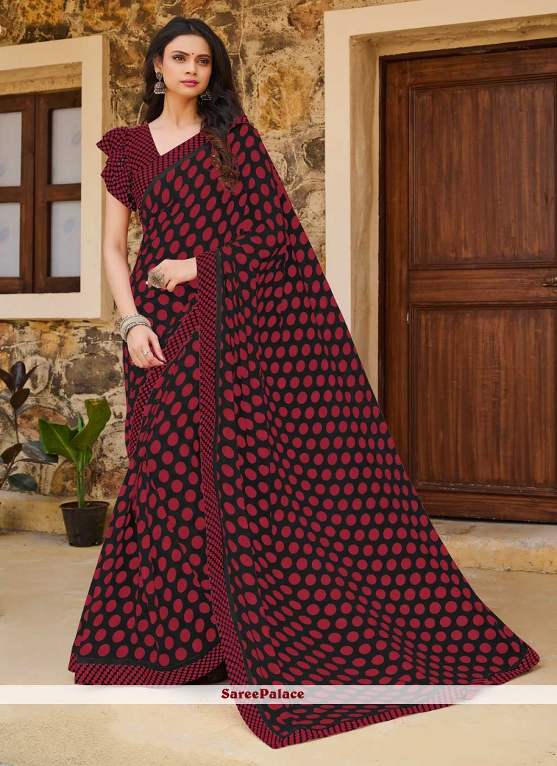 Weight Less Print Multi Colour Traditional Saree
