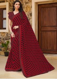 Weight Less Print Traditional Saree