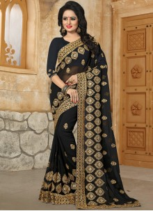 Whimsical Stone Work Work Georgette Classic Saree