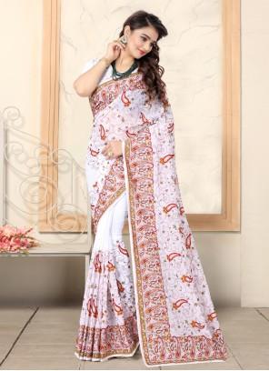 White Bollywood Saree